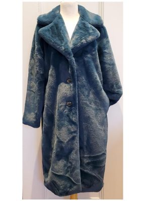 ESQUALO – Long faux fur coat