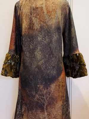 ISLE – GAUDI Fur Sleeve Dress